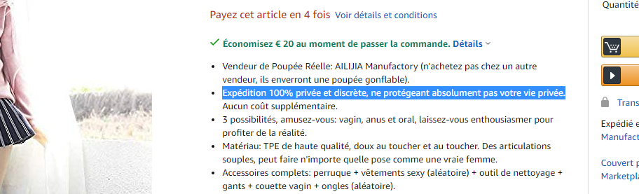 poupée d'amour amazon