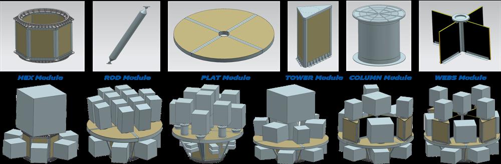 SSMS modular parts
