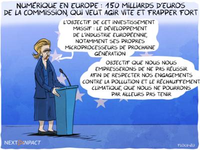 Numérique en Europe : 150 milliards d'euros de la Commission, qui veut agir vite et frapper fort