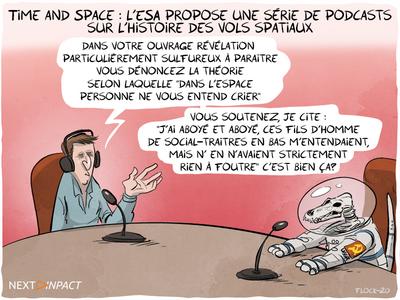 Time and Space : l'ESA propose une série de podcasts sur l'histoire des vols spatiaux