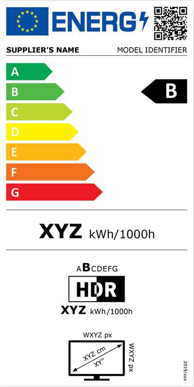 Etiquette énergie 2021 affichage electronique