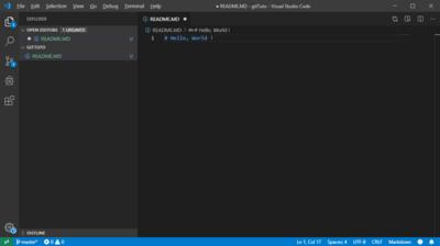 Git Init Hello World Visual Studio Code