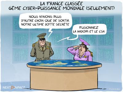 La France classée 6e cyber-puissance mondiale