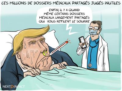 Des millions de dossiers médicaux partagés (DMP) vides et inutilisés