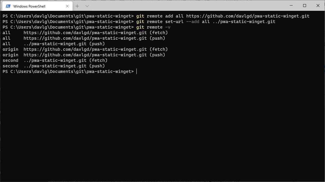 Git remote add