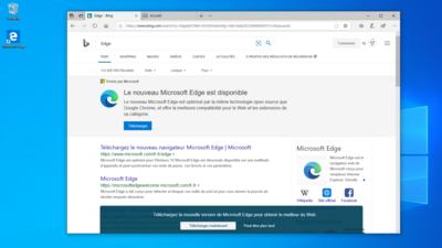 Microsoft Nouvel Edge Mise en avant Bing