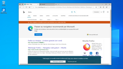 Microsoft Bing Firefox Edge Legacy