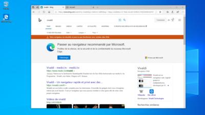Microsoft Bing Navigateurs concurrents