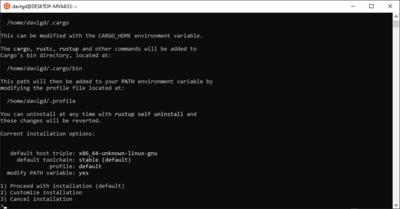 Installation Rustup Ubuntu WSL