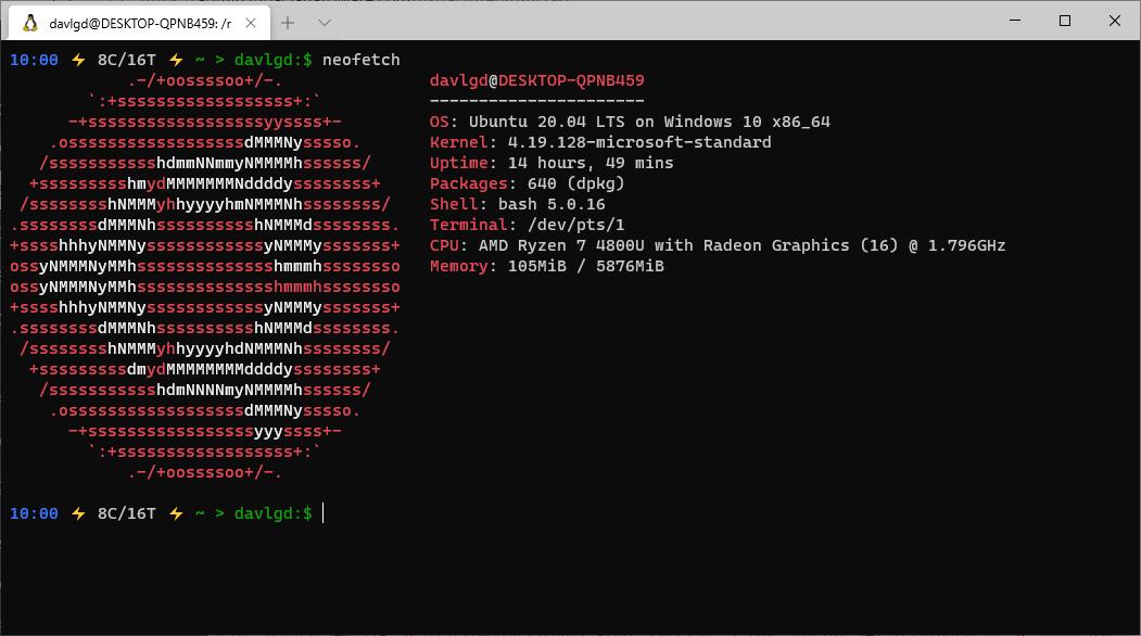 Terminal Ubuntu PS1 modifié