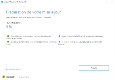 Mise à jour Windows 10 20H2