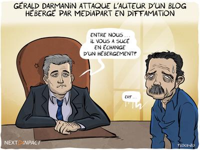 Gérald Darmanin attaque l'auteur d'un blog hébergé par Mediapart en diffamation