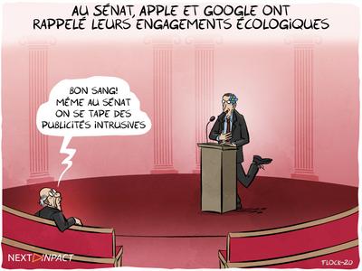 Au Sénat, Apple et Google ont rappelé leurs engagements écologiques