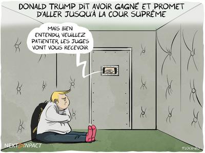 Donald Trump dit avoir gagné et promet d'aller jusqu'à la Cour suprême