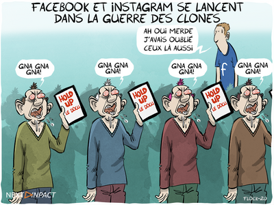 Facebook et Instagram se lancent dans la guerre des clones