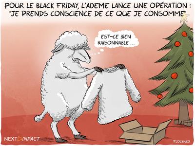 Pour le Black Friday, l'ADEME lance une opération : « je prends conscience de ce que je consomme »