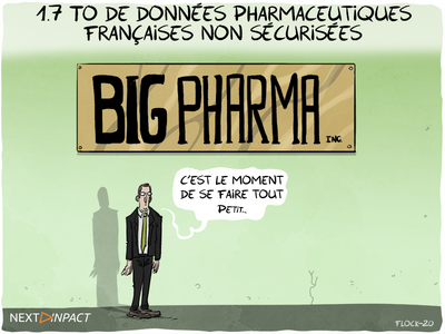 1.7 To de données pharmaceutiques françaises non sécurisées