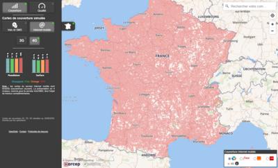 Carte couverture Bouygues Telecom