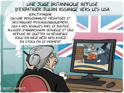 Une juge britannique refuse d'extrader Julian Assange