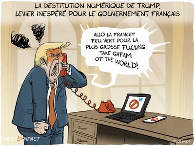 La destitution numérique de Trump, levier inespéré pour le gouvernement français