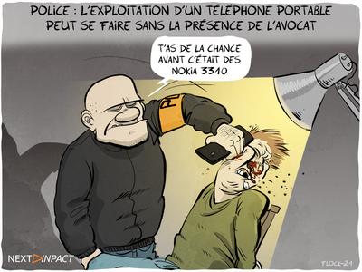 L'exploitation d'un téléphone portable peut se faire sans la présence de l'avocat