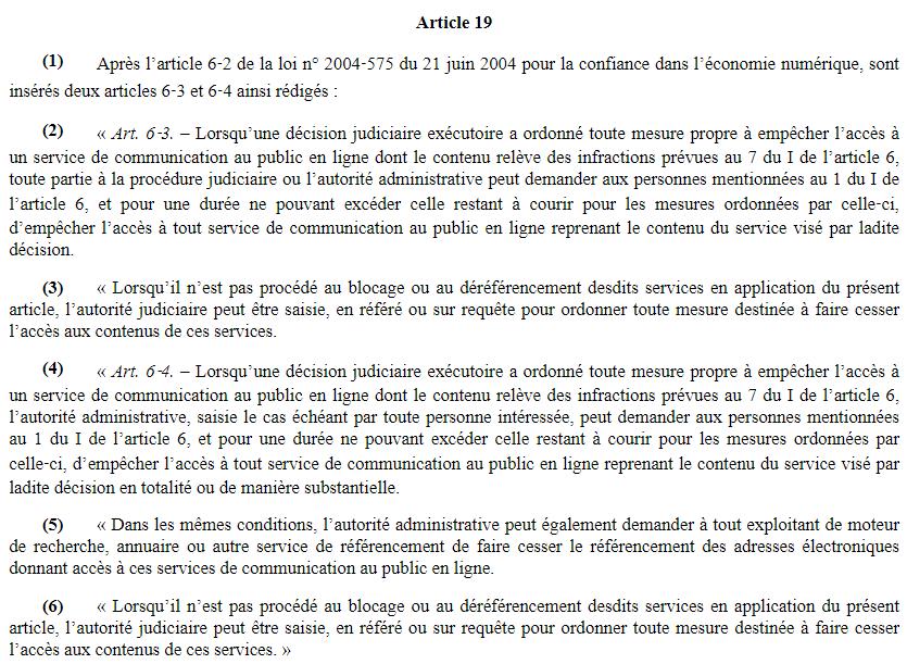 article 19 projet de loi séparatisme