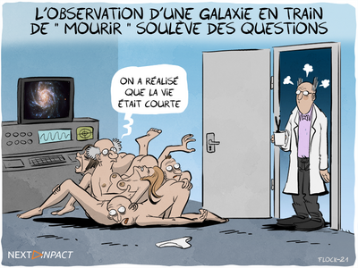 L'observation d'une galaxie en train de « mourir » soulève des questions