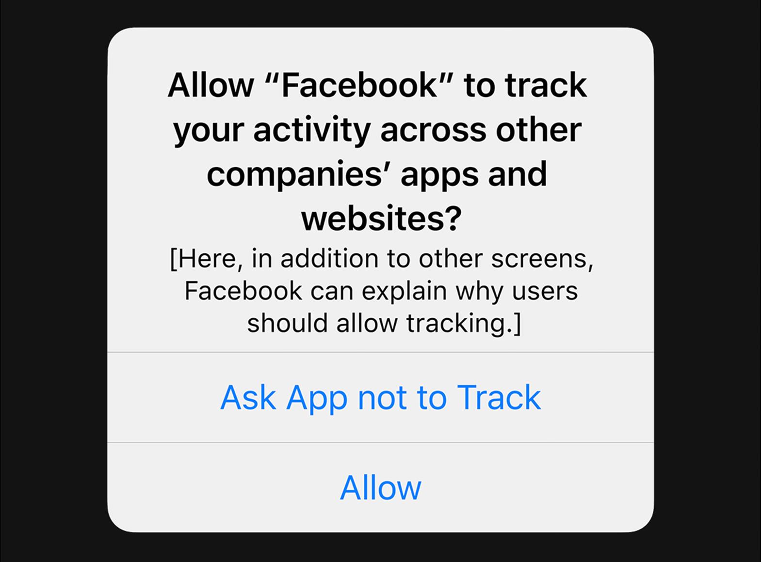 Apple Facebook ATT IDFA