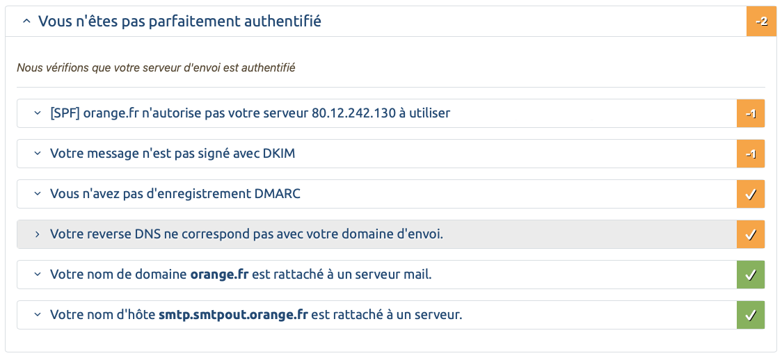 SPF DKIM ARC DMARC Orange