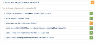 SPF DKIM ARC DMARC SFR