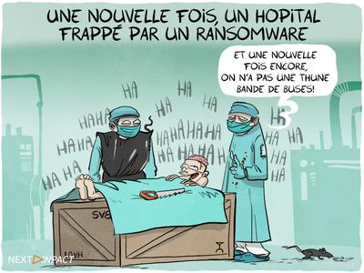 Une nouvelle fois, un hôpital frappé par une attaque informatique
