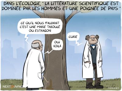 Dans l'écologie, « la littérature scientifique est dominée par les hommes et une poignée de pays »