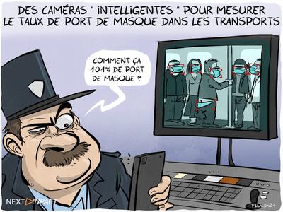 Au Journal officiel, des caméras « intelligentes » pour mesurer le taux de port de masque dans les transports