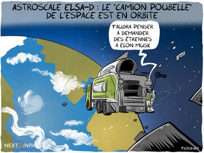 Astroscale ELSA-d : le « camion poubelle » de l'espace est en orbite