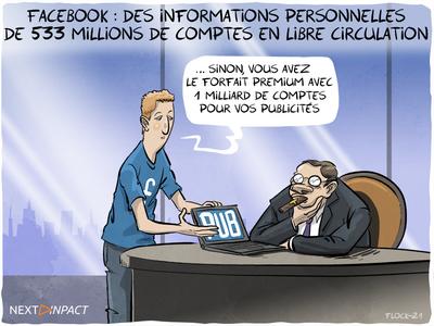 Facebook : des informations personnelles de 533 millions de comptes en libre circulation