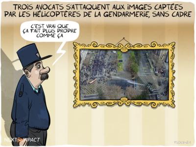 Trois avocats s'attaquent aux images captées par les hélicoptères de la gendarmerie, sans cadre