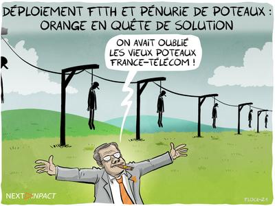 Déploiement du FTTH : la pénurie touche aussi les poteaux composites, les actions d'Orange
