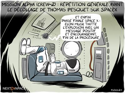 Mission Alpha (Crew-2) : répétition générale avant le décollage de Thomas Pesquet sur SpaceX
