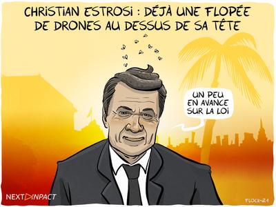 Christian Estrosi et la foire du drone