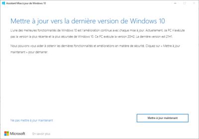 Windows 10 21H1 Mise à jour