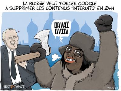 La Russie veut forcer Google à supprimer les contenus « interdits » en 24h