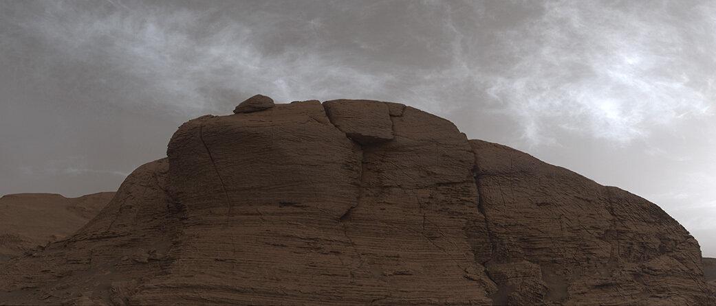 Mars nuage brillant