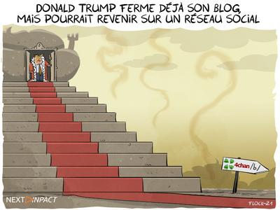 Donald Trump ferme déjà son blog, mais pourrait revenir sur un réseau social
