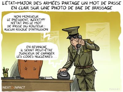 L'état-major des armées partage un mot de passe en clair