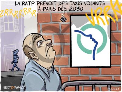 La RATP prévoit des taxis volants à Paris dès 2030