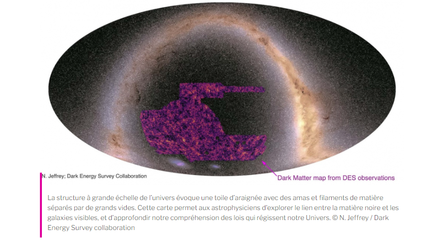 carte de la matière noire