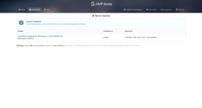 UUP Dump Windows 11