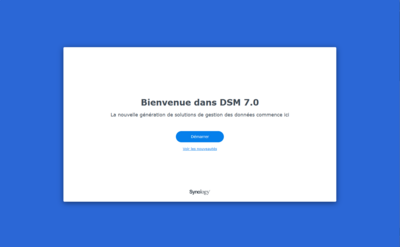 Synology DSM 7.0 Initialisation