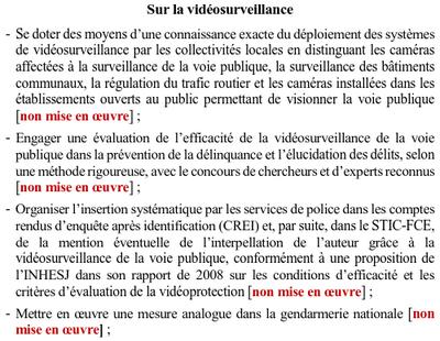 Cour des comptes vidéosurveillance