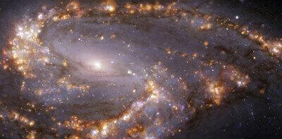 NGC 3627 vue avec MUSE sur le VLT de l'ESO dans plusieurs longueurs d'onde de lumière